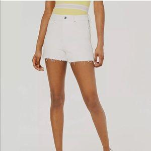 Guess Claudia Side Zipper Cut off Shorts NWT